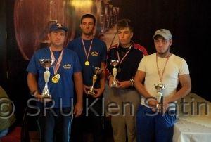 Najbolji natjecatelji u pojedinačnom plasmanu lige ZŠRU Slatina 2014.